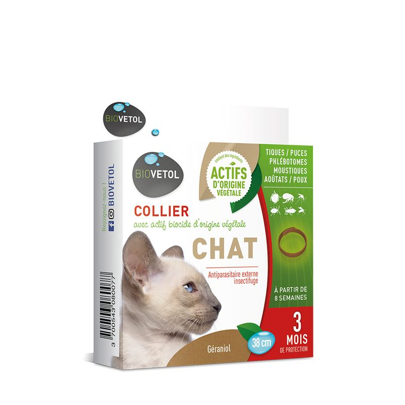 Biovetol Collier insectifuge naturel pour chat