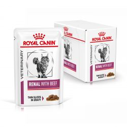 Royal Canin Veterinary Diet Cat Renal Boeuf en sauce   12 x 85g